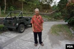 Asih has been the juru kunci, or spiritual caretaker, of Mount Merapi since 2011. (K. Varagur for VOA)