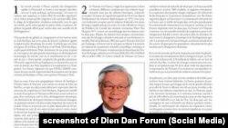 Bài viết của TBT ĐCSVN Nguyễn Phú Trọng đăng trên trang quảng cáo (Publicité) của báo Pháp Le Monde