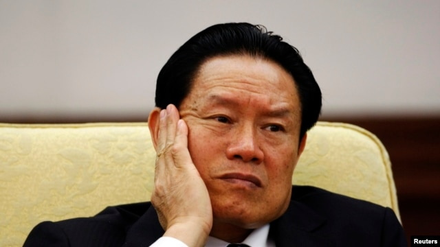 FILE - Then China's Public Security Minister Zhou Yongkang.