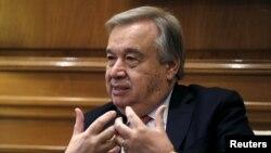 Antonio Guterres, Haut-commissaire aux réfugiés de l'ONU. REUTERS/Alkis Konstantinidis
