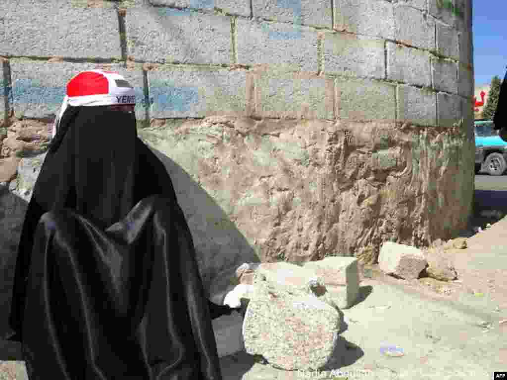 A protester in Yemen (Photo - Nadia Abdullah)