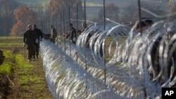 Žičana ograna na granici Slovenije i Hrvatske