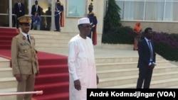Le général d'armée Idriss Déby Itno élevé à la dignité du Maréchal, à N'Djamena, le 26 juin 2020. (VOA/André Kodmadjingar)