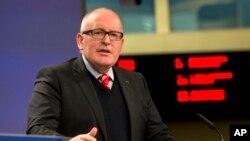 Ông Frans Timmermans là phó chủ tịch Ủy ban châu Âu