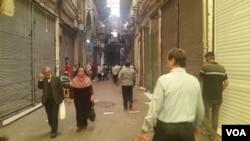 Shopkeepers at Tehran's Grand Bazaar shut their doors, June 25, 2018, to protest Iran's worsening economic conditions.