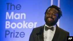 "Marlon James, author of ""A Brief History of Severn Killings,"" speaks after being named winner of the Man Booker Prize for Fiction 2015, in London, Oct. 13, 2015."
