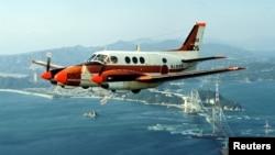 Máy bay huấn luyện TC-90 của Các lực lượng Phòng vệ Hải quân Nhật Bản. Ảnh: Reuters.