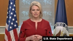 헤더 노어트 미국 국무부 대변인이 15일 정례브리핑에서 북한과의 대화 가능성에 관해 언급했다.