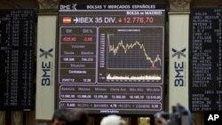 投資者憂慮西班牙經濟前景觸發全球股市下跌