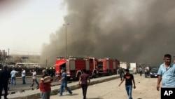 2016年6月9日巴格达自杀式汽车炸弹袭击现场