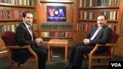 امیرزی سنگین، وزیر مخابرات افغانستان در ستدیوی صدای امریکا