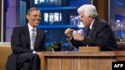 Барак Обама и Джей Лено
