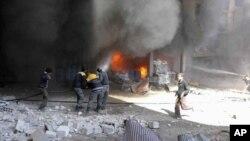 منابع حقوق بشری می گویند این بزرگترین حمله به غوطه شرقی در پنج سال اخیر است