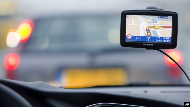 A TomTom navigation device is seen in this photo illustration taken in Amsterdam February 28, 2012.