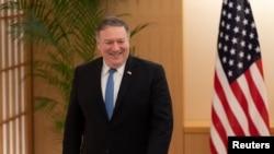 美國國務卿蓬佩奧2018年10月6日在東京訪問。(路透社)