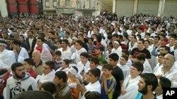 敘利亞反政府示威者星期天舉行抗議活動