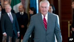 Le secrétaire d'Etat Rex Tillerson lors d'une réunion à Washington, le 14 décembre 2017.