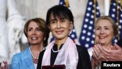 Opozicionoj liderki Burme Aung San Su Ći uručena je Kongresna zlatna medalja