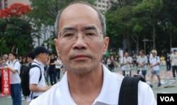 香港時事評論員劉銳紹(美國之音湯惠芸攝)
