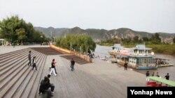 중국 지린성 연변조선족자치구 두만강변 풍경. (자료사진)