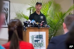 Thane Maynard, director of the Cincinnati Zoo & Botanical Garden, speaks during a news conference, Monday, May 30, 2016, in Cincinnati. A gorilla named Harambe was killed by a special zoo response team on Saturday.