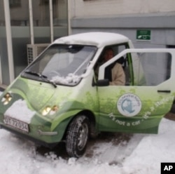 In Copenhagen, hotel owner Kirsten Brøchner gets behind the wheel of her leased Norwegian-made electric car.