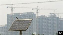 ແຜ່ນກອງແສງຕາເວັນ ຫລື Solar panel ທີ່ຜະລິດຢູ່ໃນຈີນ
