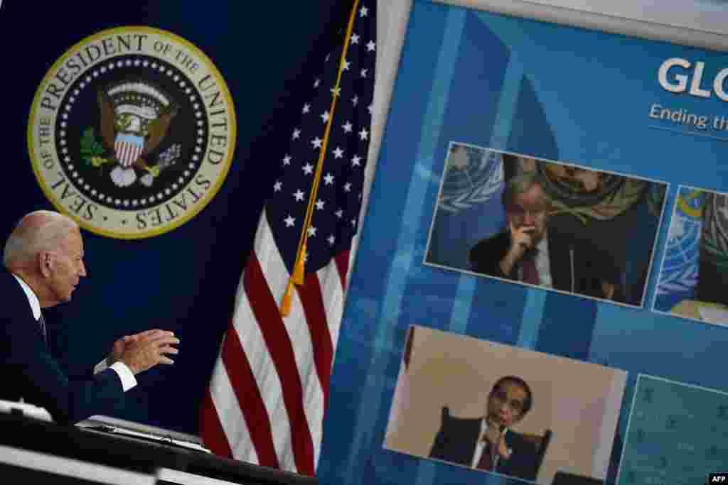 ABŞ Prezidenti Co Bayden Vaşinqtondakı Ağ Evidə BMT Baş Assambleyası çərçivəsində virtual COVID-19 zirvəsi keçirir