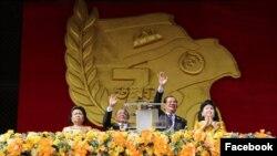 Thủ tướng Campuchia Hun Sen tại lễ kỷ niệm 70 năm chiến thắng Khmer Đỏ hôm 7/1/2019.