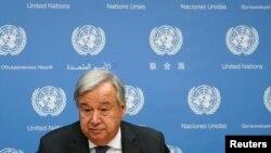 ကုလသမဂၢ အတြင္းေရးမွဴးခ်ဳပ္ Antonio Guterres. (စက္တင္ဘာ ၁၈၊ ၂၀၁၉)