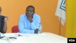 Teixeira Cândido secretário geral adjunto do sindicato dos jornalistas angolanos