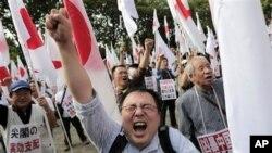 日本东京爆发围绕尖阁诸岛领土争端的反华抗议示威