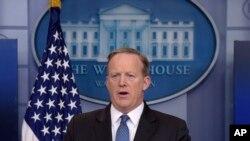 Juru Bicara Gedung Putih Sean Spicer di Washington (Foto: dok).