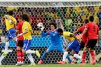 Guillermo Ochoa save during match against Brazil. (AP | Marcio Jose Sanchez)