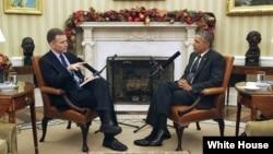 """Barak Obama """"NPR"""" radiosi bilan suhbatda"""