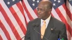 2011-11-09 粵語新聞: 美國共和黨總統參選人凱恩否認性騷擾
