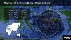 L'épicentre du séisme était situé à 81 km au sud-ouest de la province de Banten -- à environ 130 km au sud-ouest de Jakarta