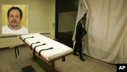 Ruang pelaksanaan hukuman mati di Lucasville, Ohio, 4 Oktober 2013 (Foto: dok).