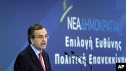 希臘總理薩馬拉斯(資料圖片)