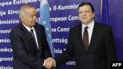 Prezident Islom Karimov Yevropa Komissiyasi raisi Joze Manuel Barroso bilan, Bryussel, 24 yanvar 2011