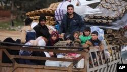 2020年1月27日叙利亚难民逃离再次爆发的战斗