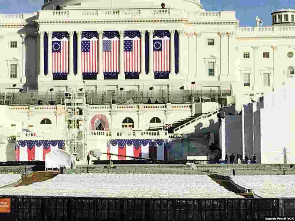 Hotunan Yadda Aka Kayata Birnin Washington DC Domin Rantsar Da Sabon Zababben Shugaban Kasar Amurka Donald Trump, Janairu 19, 2017