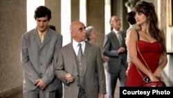 "(From left) Alessandro Tiberi, Roberto Della Casa and Penélope Cruz in Woody Allen's ""To Rome With Love."" (Philippe Antonello ©Gravier Productions/Sony Pictures Classics)"