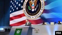Robert Lighthizer, représentant du département américain du commerce, à Lomé, le 9 août 2017. (U.S. Embassy Lomé)