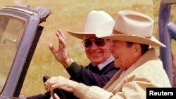 ریگان در مزرعه شخصیاش در ایالت کالیفرنیا از ماشین جیپی استفاده می کرد که حالا در نمایشگاه عموم آن را می بینند.