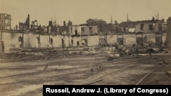 Civil War Destruction: Ruins of the Railroad Yards at Richmond