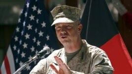 U.S. General John Allen speaks in Kabul, July 4, 2012.