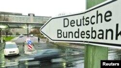 تابلوی ورودی بانک مرکزی آلمان که به بانک فدرال آلمان مشهور است
