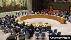 Debat Terbuka Dewan Keamanan PBB di markas PBB, New York hari Kamis (17/5). (Courtesy: PTRI New York).