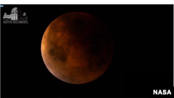 """Superbloodmoon"" photographed by NASA's Griffith Observatory, Sept. 27, 2015."